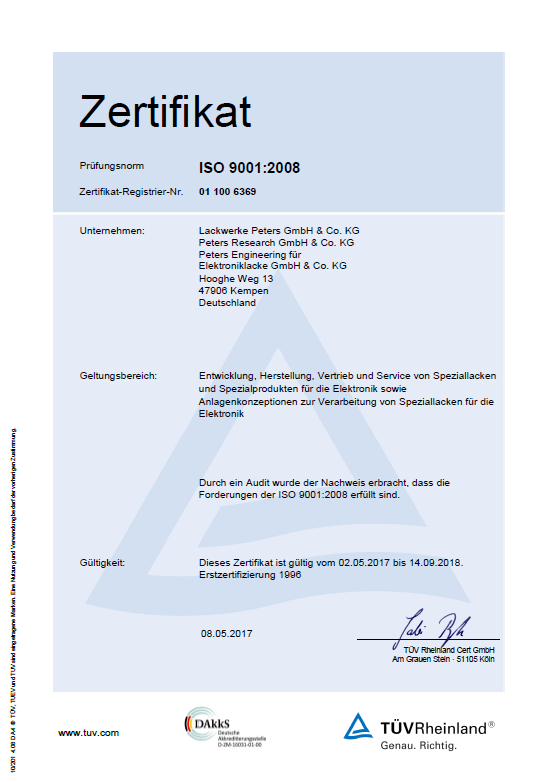 Successful Re-Certification Audit according to DIN EN ISO 9001